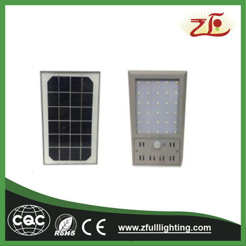 6W Solar Powered Motion Lights Ultra-Slim Wireless Solar Garden Porch Pathway Wall Lights pictures & photos