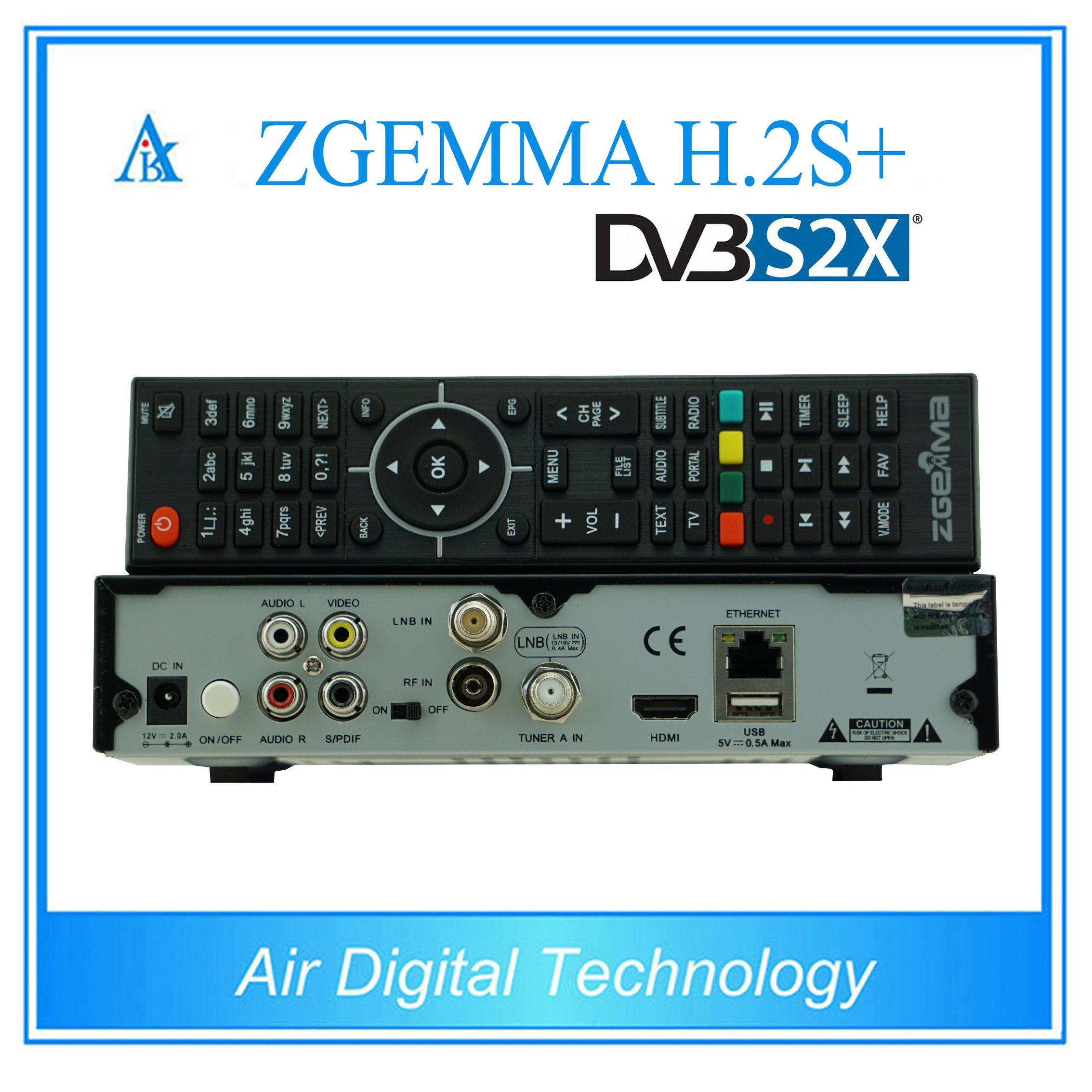 S2X TV Box DVB S2 + DVB S2X + DVB T2/C Zgemma H. 2s+ pictures & photos