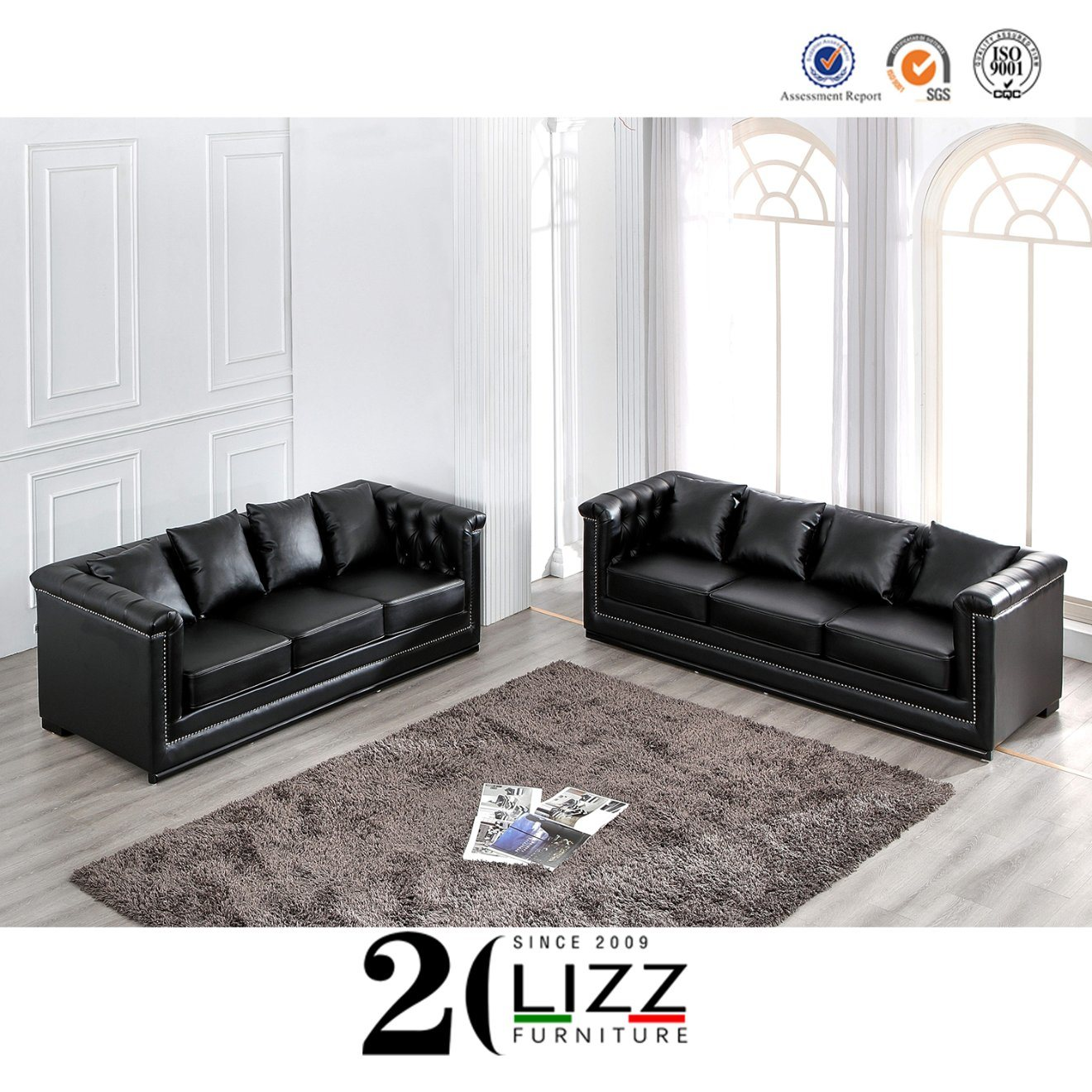 China Chesterfield Sectional Modern Genuine Leather Sofa Couch Set China Leisure Sofa Leather Sofa