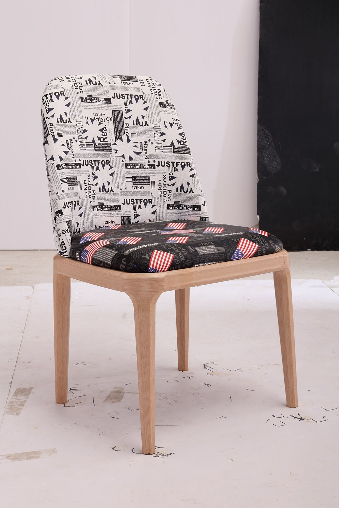 Pattern Printed Fabric Dining Chairs
