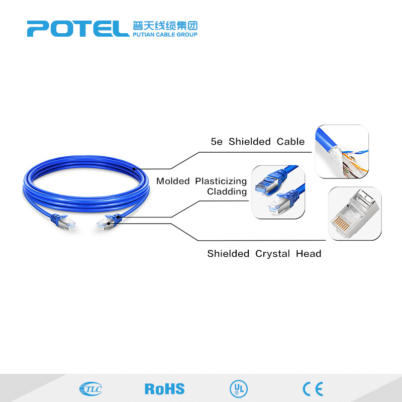 Hot Item Cat6a Unshield Rj45 Jump Wire Patch Cord Cable Home Use Cable