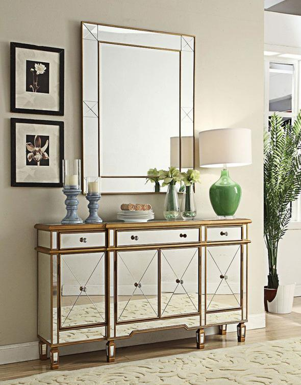 China Gold Surround Mirrored Sideboard Living Room Cabinet China Mirror Cabinet Modern Sideboard