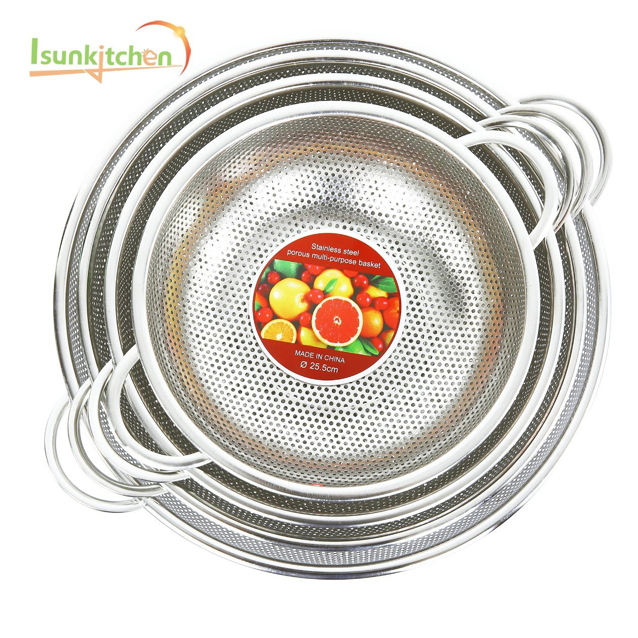 Kitchen Accessories Stainless Steel Sink Wire Basket with Handle pictures & photos