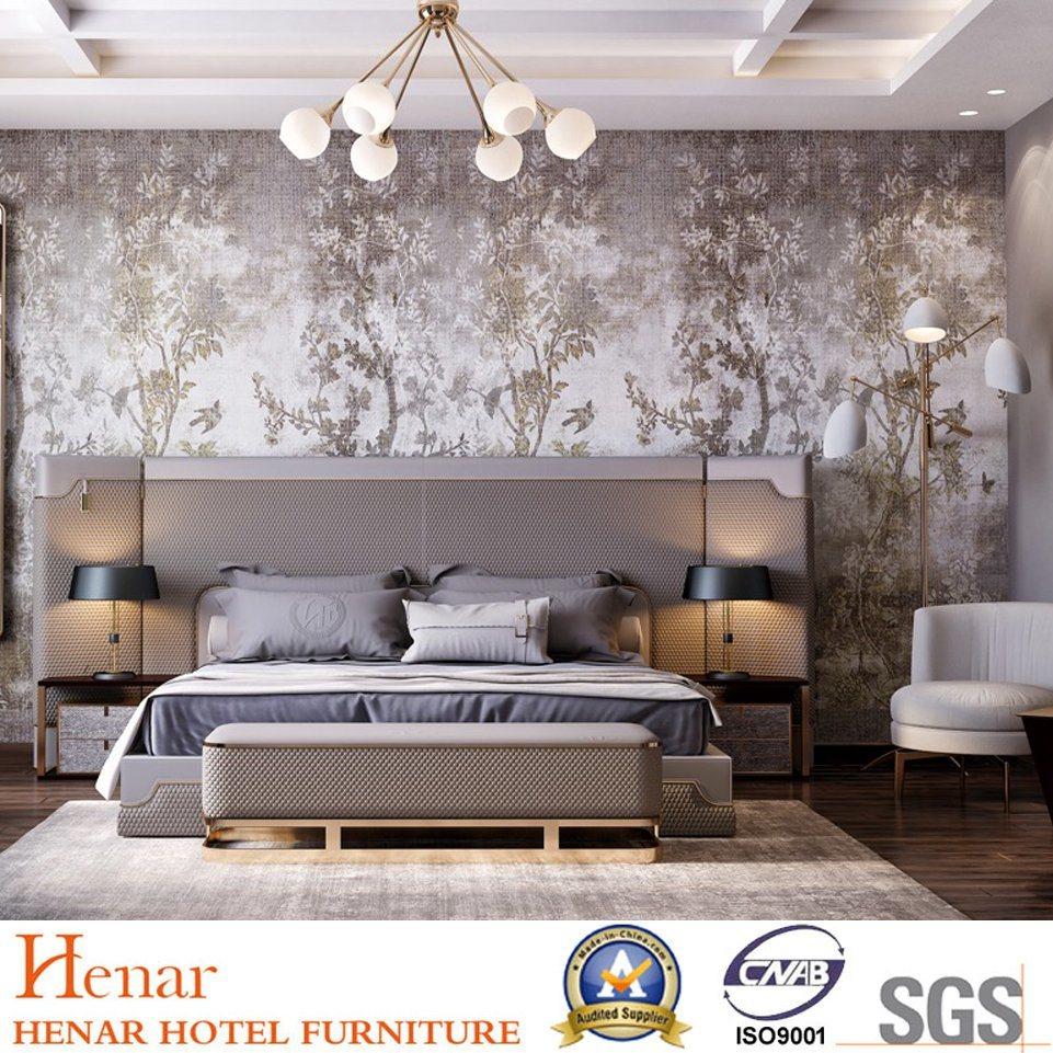 China 2019 Henar European Luxury Style Hotel Bedroom Furniture Sets