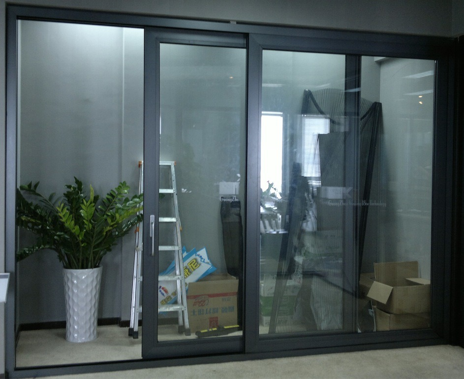 China Aluminum Frame Glazed Panel Sliding Door Aluminium Sliding
