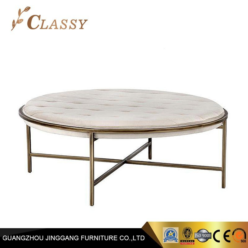 China Rounded Fabric Coffee Table