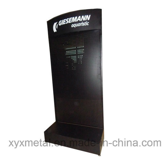 Customized Logo Metal Pegboard Floor Shelf Stand Tools Exhibition Display Rack