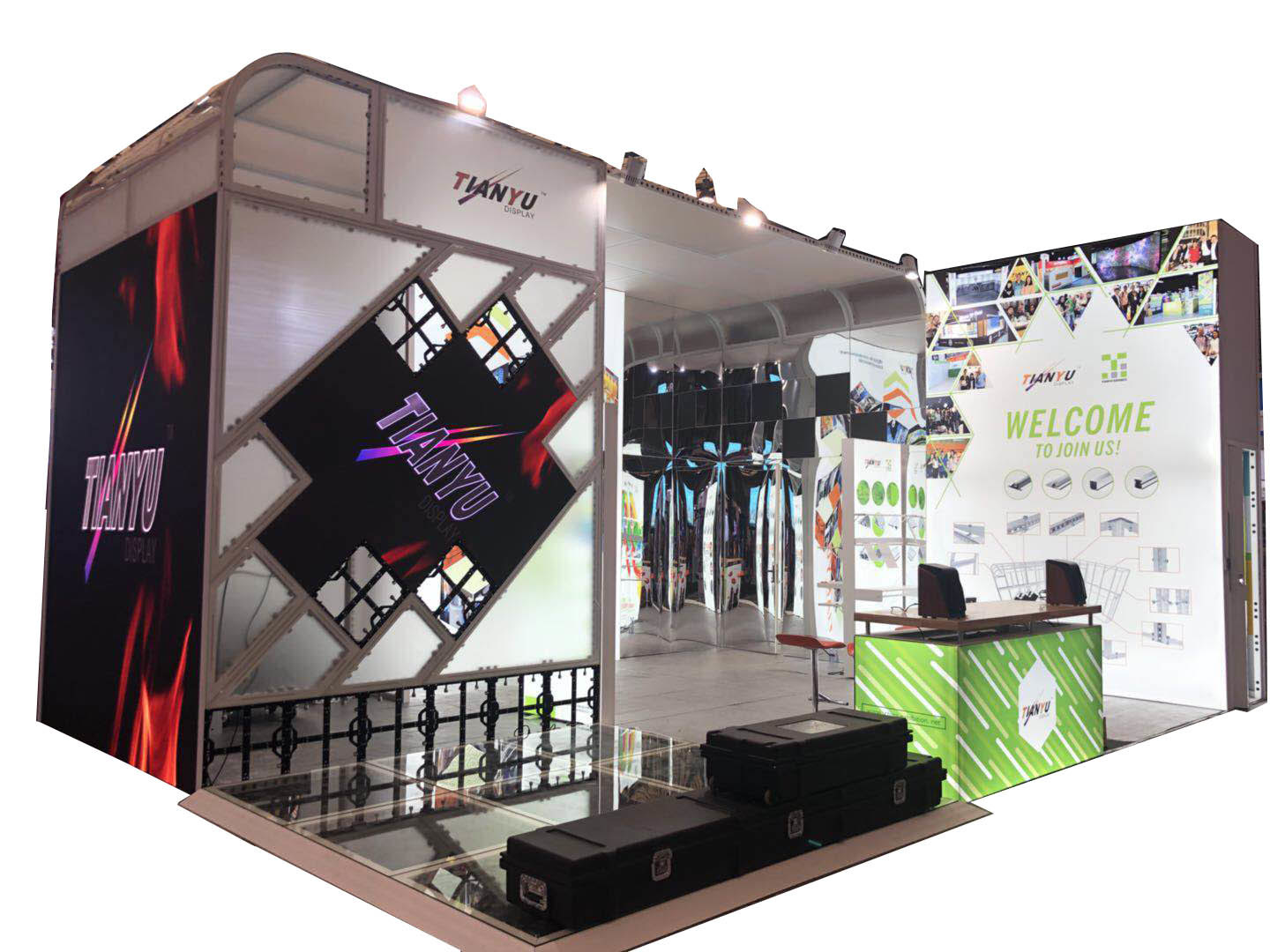 Expo Exhibition Stands In : China custom aluminum display stand design expo trade show