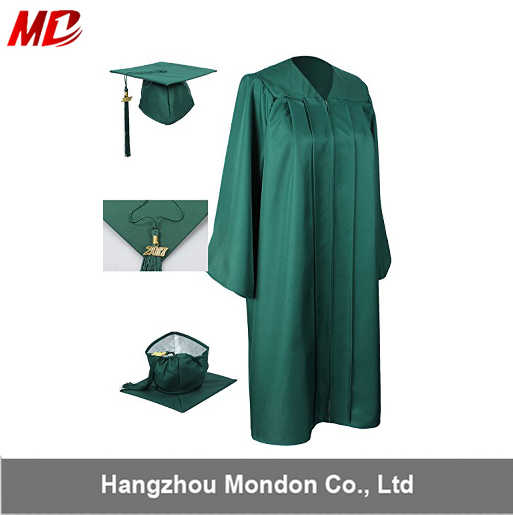 China 2018 Summer Sale Emerald Green Graduation Gowns Caps with ...