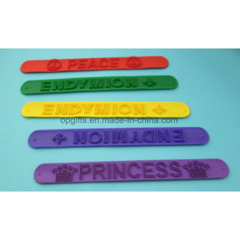 China Hot Reflective Pvc Snap Bracelet Slap Wrist