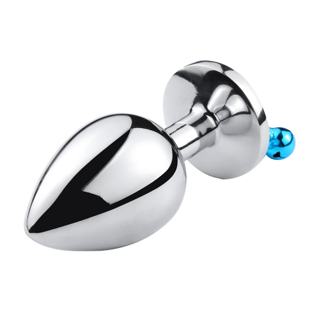 Analplug china jewelry base anal plug stainless steel plug with bell