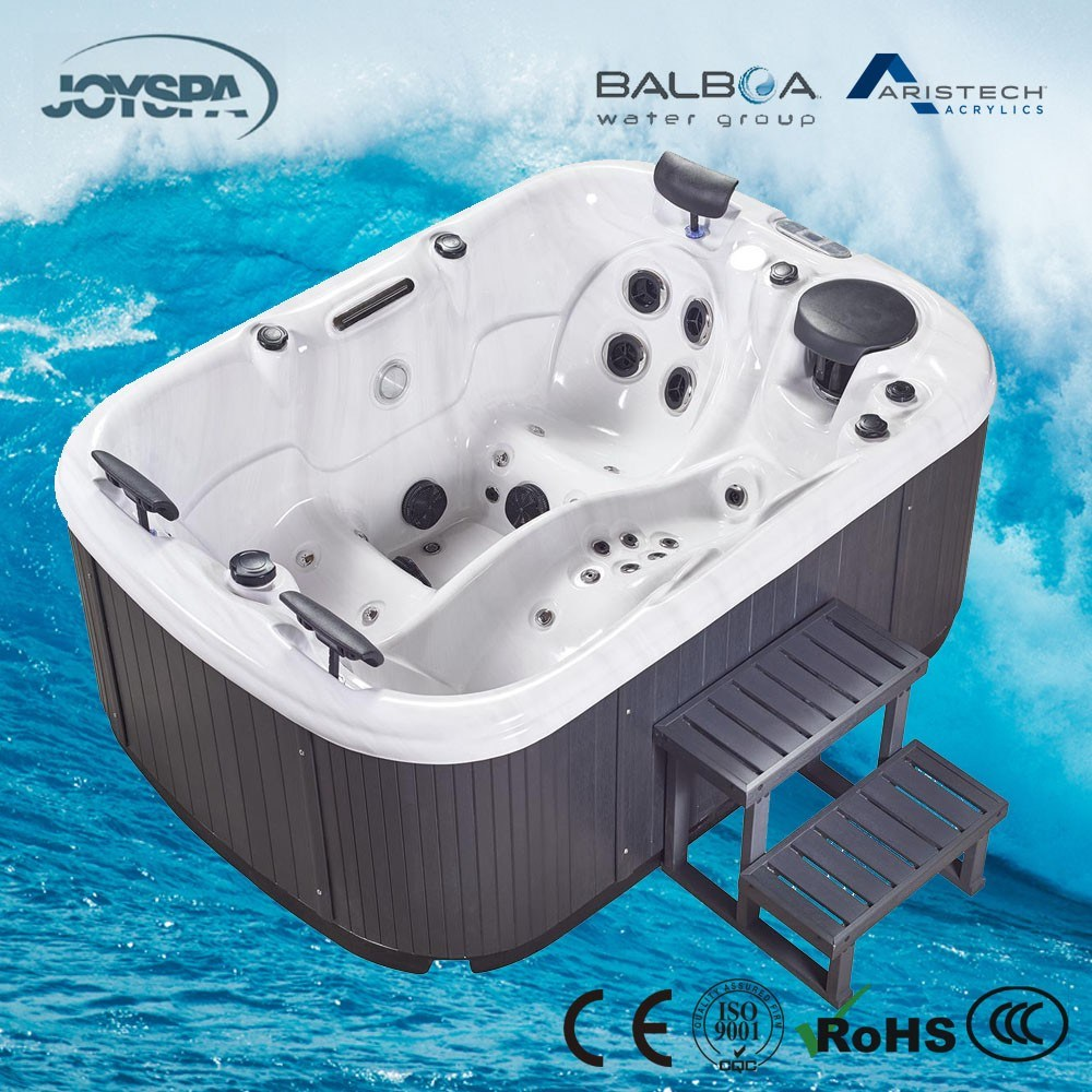 China New Design Jacuzzi Acrylic Balboa 2 Person Mini Indoor Hot Tub ...