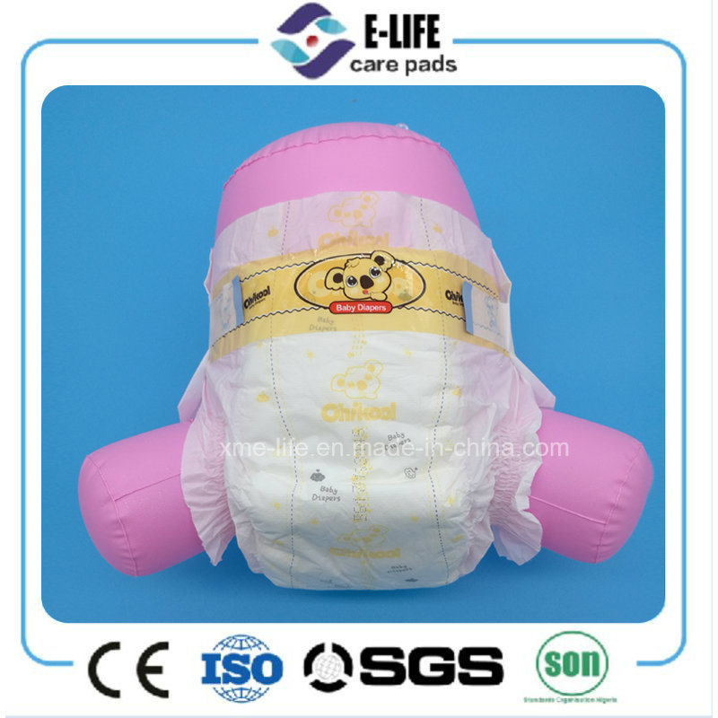 OEM Disposable Elastic Waist Baby Diaper with Magic Tape
