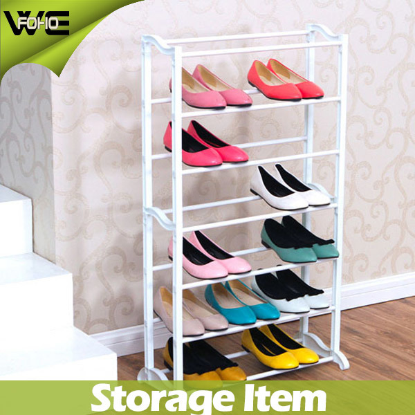 Simple Plastic Double Layer Shoe Rack Adjustable Shoes Holder Stand Shelf US