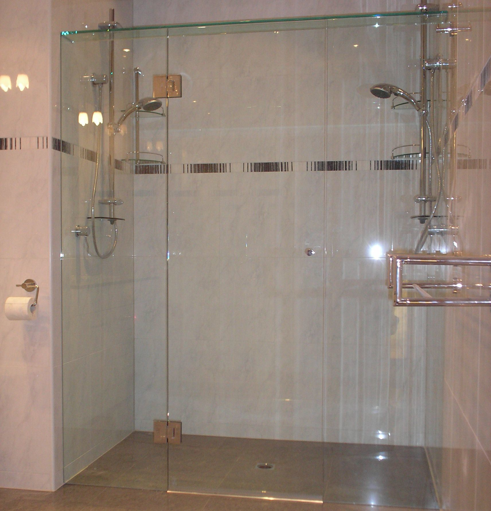 Tempered Gl Shower Wall Panel
