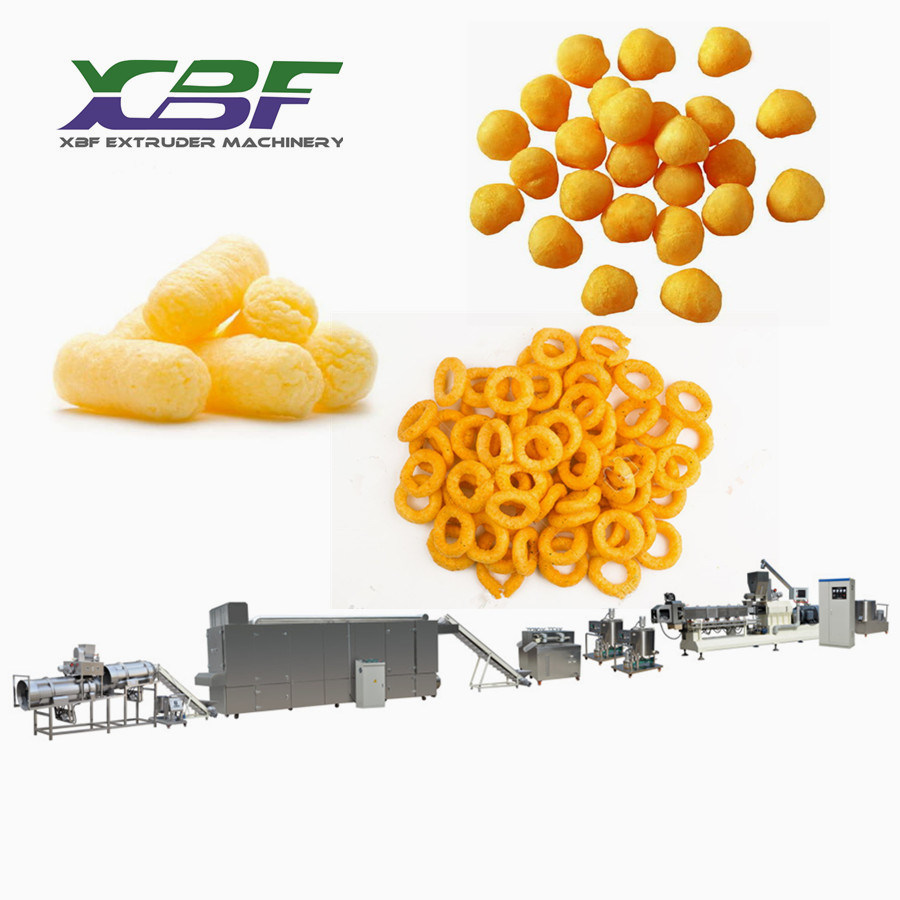[Hot Item] New Corn Snacks Food Making Machine Snack Pellet Food Making  Extruder Puff Food Extrusion Processing Line Extruder