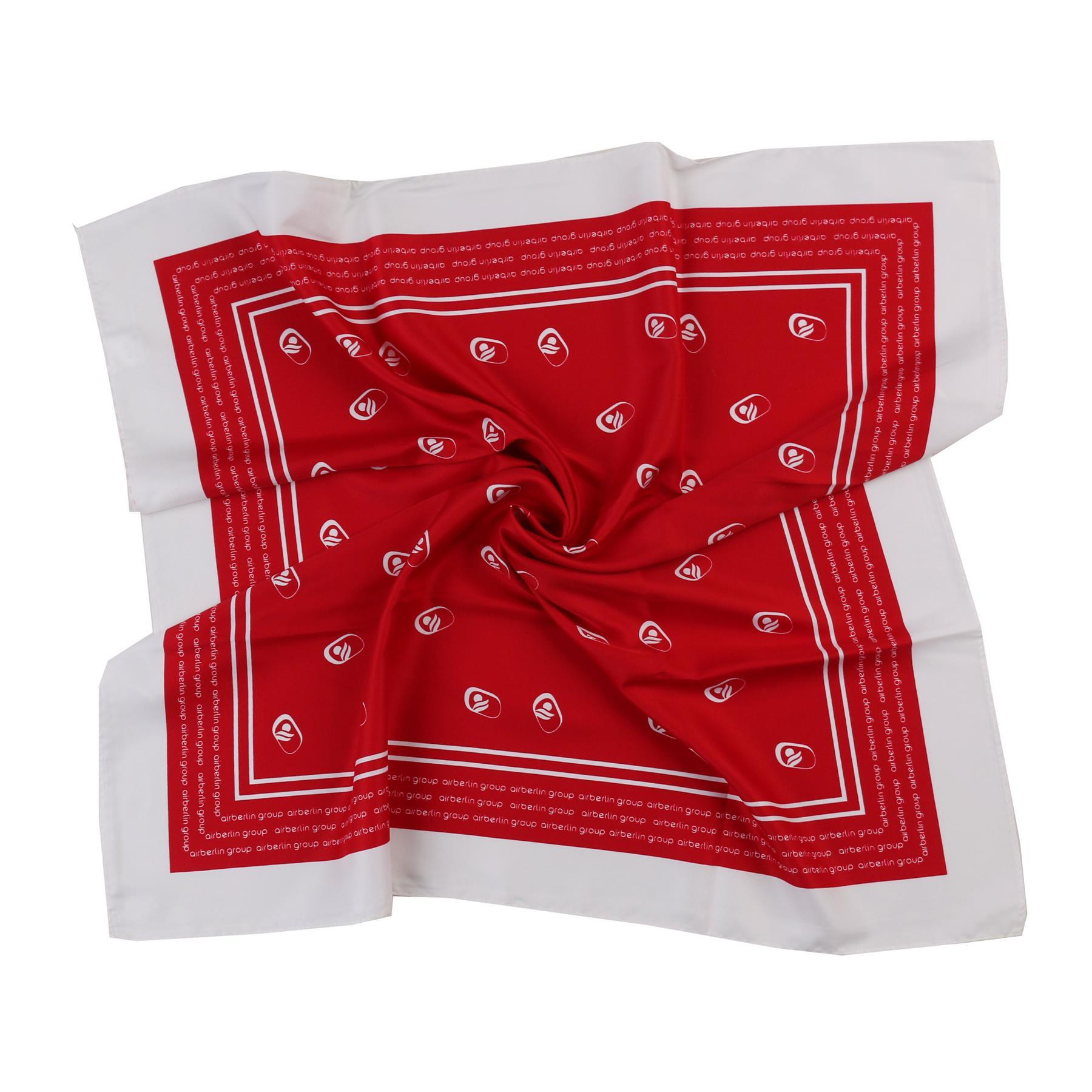 Bright Red Stylish Airline New Scarf Pure Silk Top Quality Formal Fashion Custom Logo Square (LS-42)