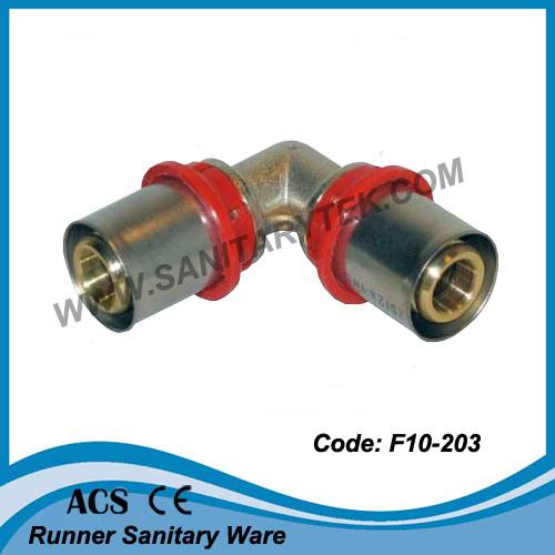 Brass Press Fittings for Multilayer Pipe - Equal Elbow (F10-203)