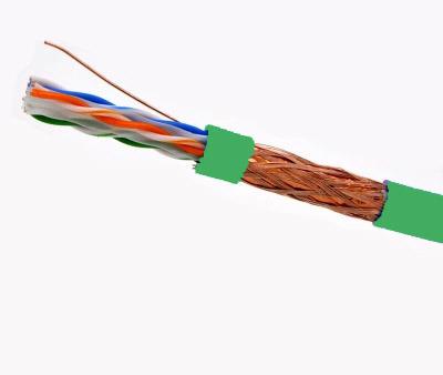 550-MHz Stranded Bulk Cable 1000 feet 23AWG CAT6 4-Pair PVC Green