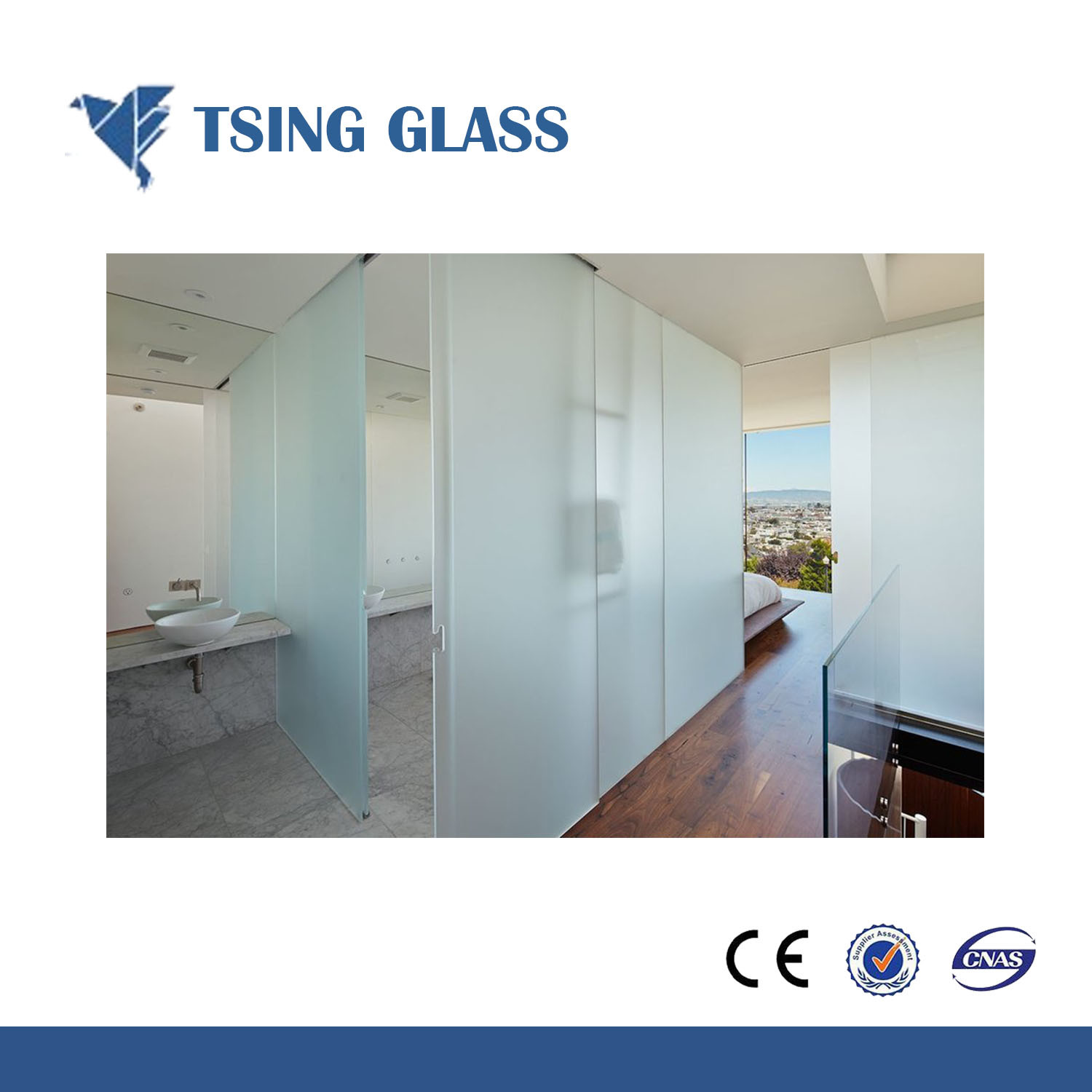 China Clear/Colored Frosted Glass, Acid Etched Glass for Louver ...