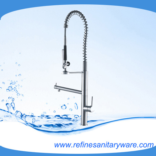 High Quality New Design Kitchen Faucet With Pull Down LED Spout (R1262 5M)