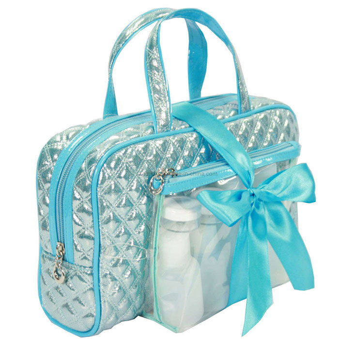 Hot Item Travel Toiletry Wash Cosmetic Bag With Shampoo Bottles