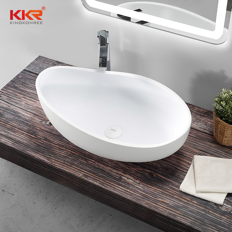 China Acrylic Solid Surface Table Top Bathroom Sink China Modern Wash Basin Acrylic Solid Surface Basin