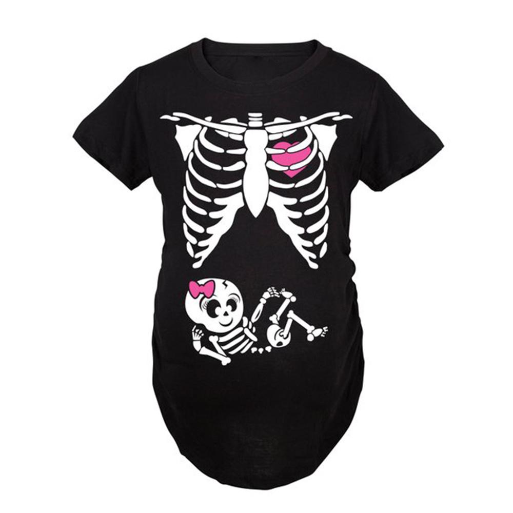 84342883f52d1 Pregnant Skeleton Baby Long Sleeve T Shirt Maternity – EDGE ...
