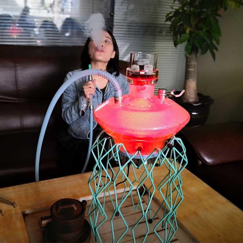 [Hot Item] Wholesale Thick Glass Tobacco Bowl Glass Pipe Shisha Hookah  Medusa