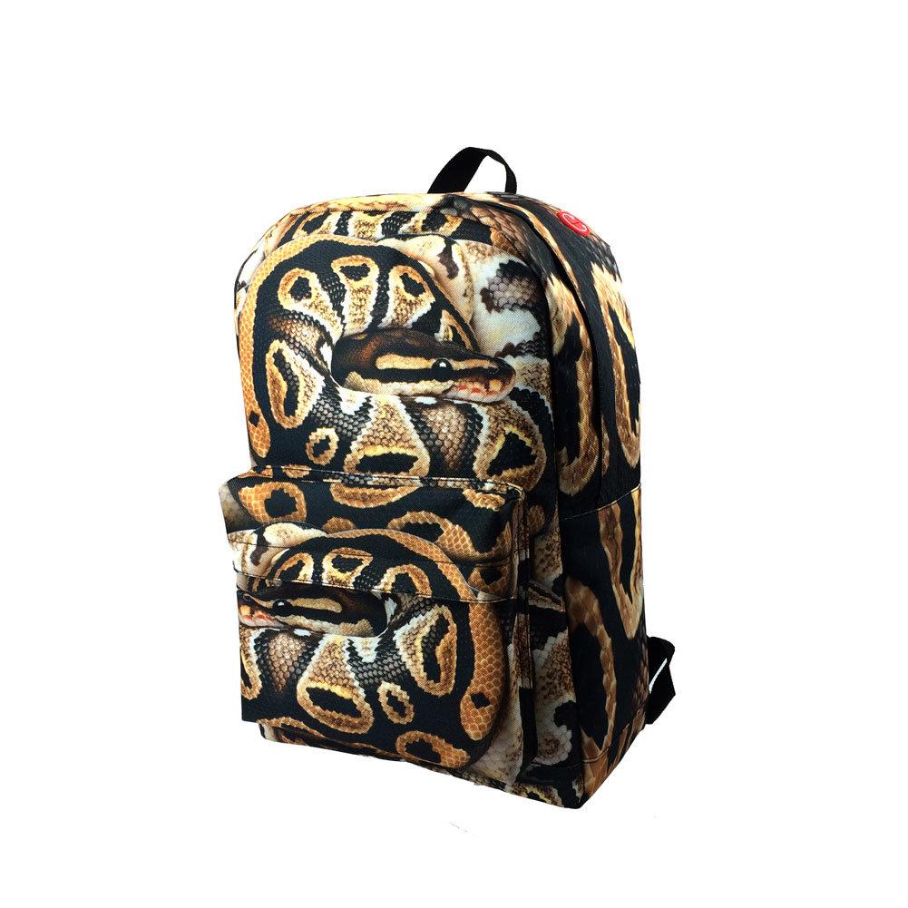 7b46c523814e [Hot Item] Fashion Popular Snake 3D Printing Children Bags Kids Zoo Animal  Backpack
