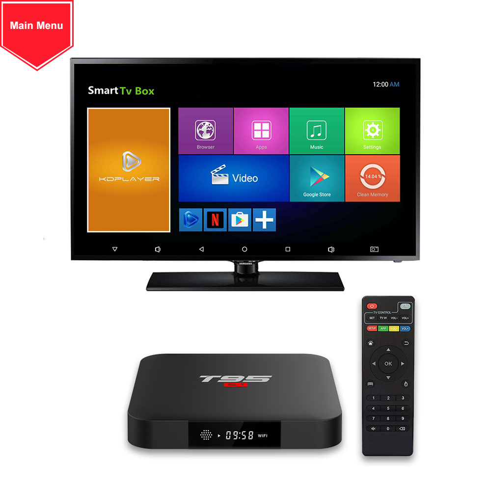 [Hot Item] T95 S1 Android 7 1 TV Box 2GB 16GB Amlogic S905W Quad Core  2 4GHz WiFi Player Smart Box 4K
