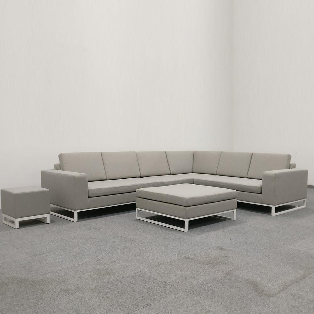 [Hot Item] Outdoor Aluminium Fabric Sectional Sofa Garden Furniture