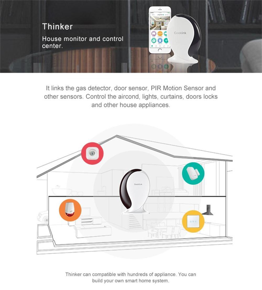 China Geeklink Thinker Smart Home Automation Wireless WiFi+IR+RF