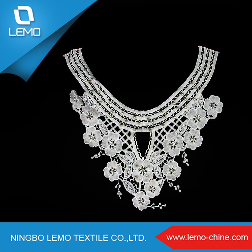 Elegant Silvery Beads Ornamental Collar Lace with Tassels pictures & photos