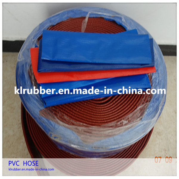 Heavy Duty Agriculture Irrigation PVC Layflat Water Discharge Hose pictures & photos