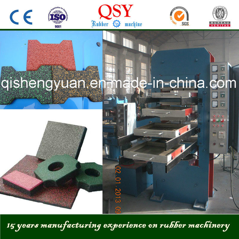 50/80tons Rubber Floor Tile Machine / Vulcanizer Press