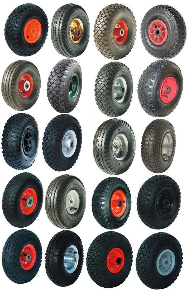 2 Air Wheels Wheel Air Tyre Sack Cart Wheel Luftrad Wheels 3.00-4 260x85mm