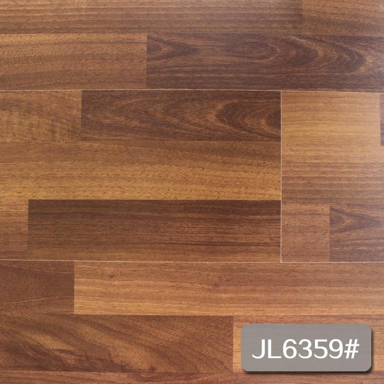 China New 3 Strip Wooden Laminate Flooring Superior Quality Economy Jl6359