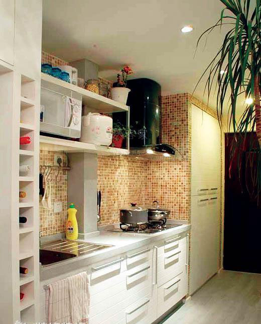 China Resin Stone Kitchen Cabinet With Open Shelf Cabinet