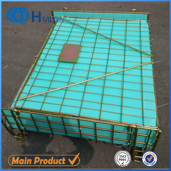 China Folded Zinc Wire Mesh Metal Container with PP Hollow Sheet ...