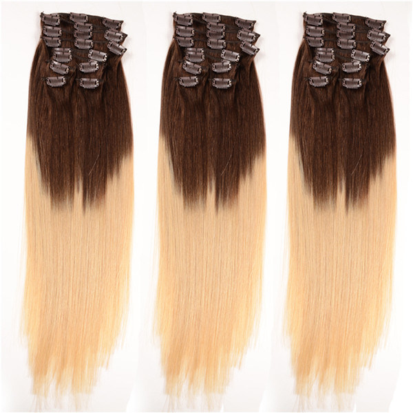 China Full Head Double Drawn Triple Weft Ombre Cheap 100 Human Remy