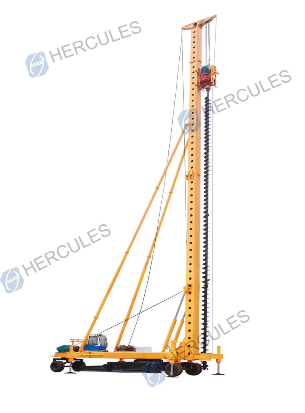 Long Auger Drilling Rig Equippped with Wheels