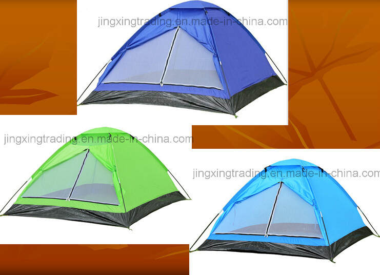 Waterproof Polyester Single-Skin Camping Tent for 2 Persons (JX-CT017)