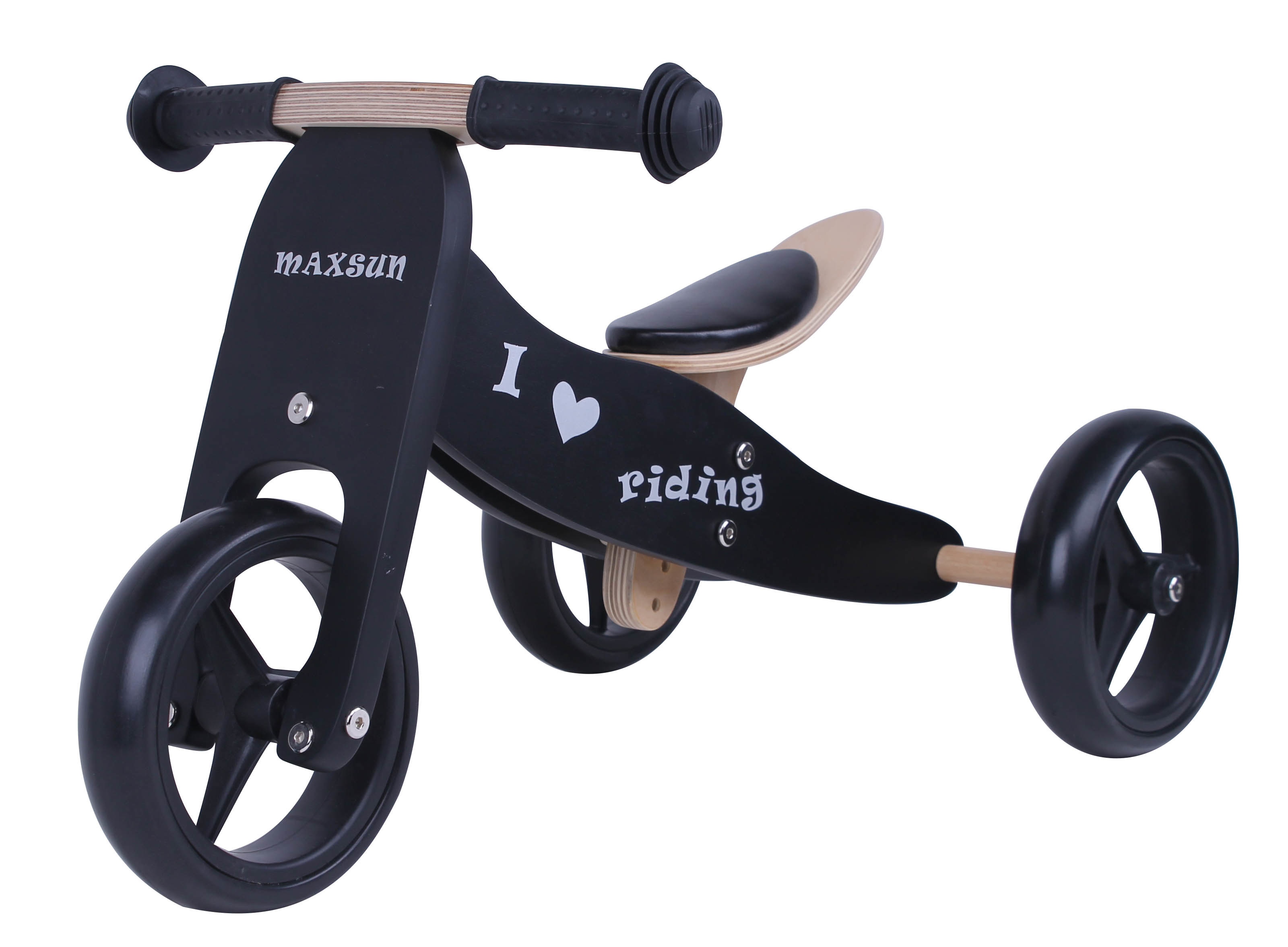 Hot Item Specifical Customized Wooden Baby Mini Biketrike 2 In 1