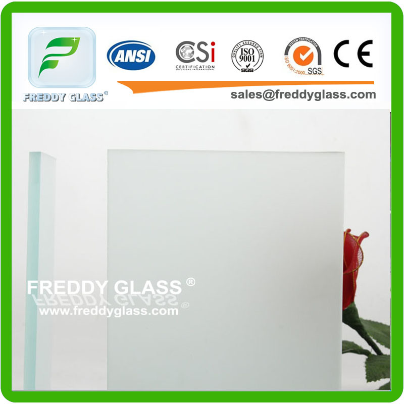 3-19mm Single or Double Side Non-Figure Print Ultra Clear Frosted Glass