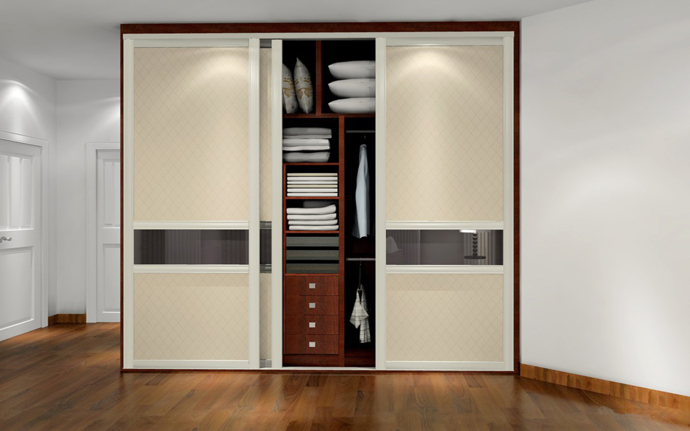 Modern Plywood Wardrobe Design (zy-039)