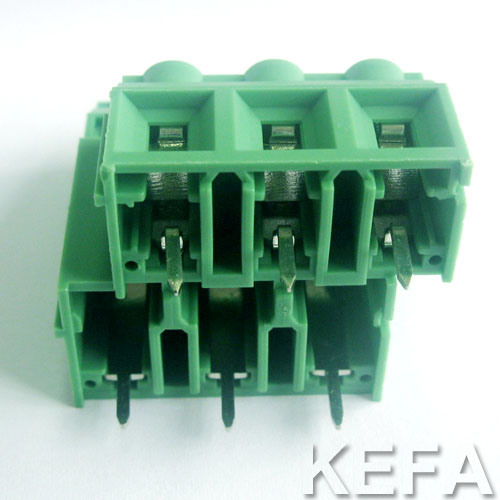 VDE Approved Double Row PCB Screw Terminal Block pictures & photos
