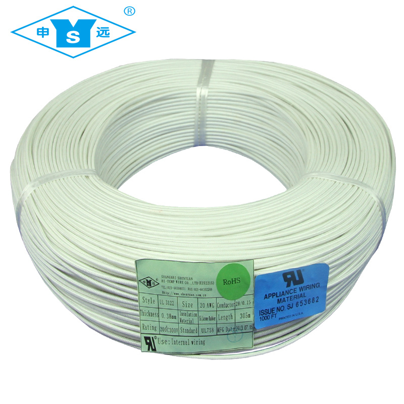 China High Temp. Silicone Rubber Fiberglass Braided Wire Photos ...