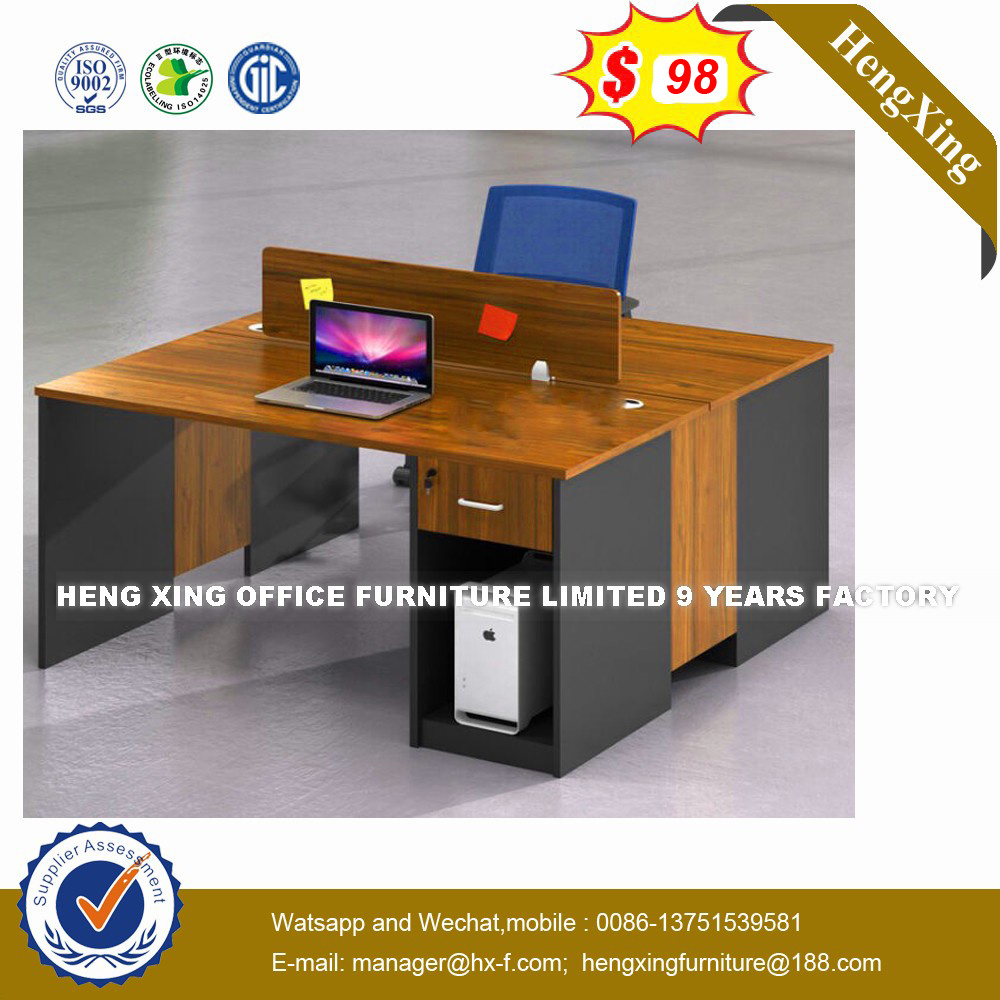 Modern Aluminum Glass Wooden Cubicle Workstation /Office Partition (HX-8N0186) pictures & photos