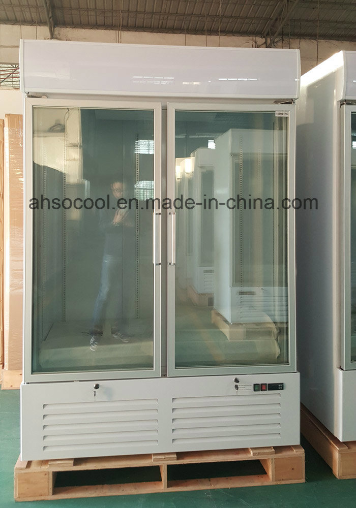 China Hot Sales Glass Door Vertical Freezer Commercial Display